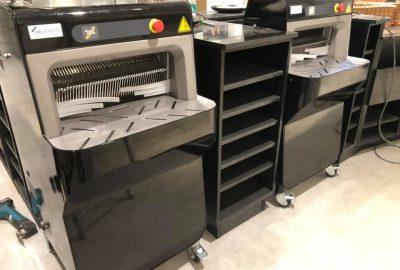 Breda 2 zwart gewrapte broodsnijmachines